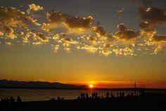 Napnyugta, Seattle, Strand Sunset