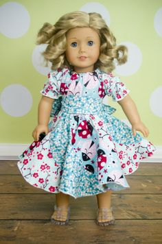 "Create Kids Couture is known for over the top boutique fashion sewing pdfs, and Violette is no exception! This wonderful swirly twirly pattern is now available in 15"" and 18"" doll sizes!"