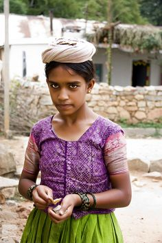 Village Girl from Sultanpur Bangalore India