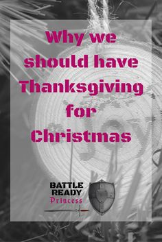 The celebration of the Thanksgiving holiday is just beginning. We need to continue the spirit of thanksgiving all the way through the holiday season. And really year round.