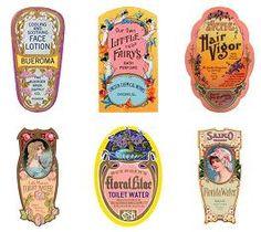 miniature printable perfume/vanity labels