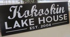 Lake House Sign Lake House Decor Custom Sign by KendrasKreations, $35.95