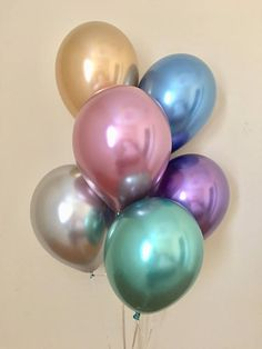 New Chrome Gold Silver Purple Blue Mauve 11 inch Latex Balloons~Metallic Balloon~Chrome Balloon~Birthday~Wedding~Bridal~Baby~Bling~Shiny