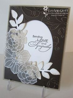 Secret Garden vellum flowers Flowers embossed with White embossing powder onto our Vellum card stock. Beautiful Handmade Cards, Pretty Cards, Copics, Sympathy Cards, Creative Cards, Cool Cards, Flower Cards, Greeting Cards Handmade, Scrapbook Cards