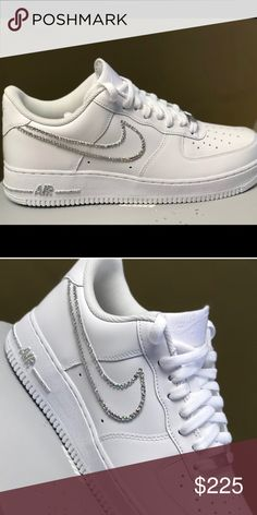 1e66c7aca321 Brand New Custom Nike Air Force 1 Low Please order your shoe size in boys  sneakers. Nike check can be completely filled in or just the outline.