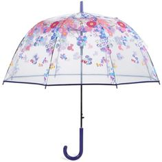 Vera Bradley Auto Open Bubble Umbrella in Impressionista (170 ILS) ❤ liked on Polyvore featuring accessories, umbrellas, umbrella, random, impressionista, new arrivals, travel, clear umbrella, bubble umbrella and clear bubble umbrella