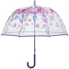 Vera Bradley Auto Open Bubble Umbrella in Impressionista (£29) ❤ liked on Polyvore featuring accessories, umbrellas, umbrella, random, impressionista, new arrivals, travel, clear bubble umbrella, vera bradley umbrella and travel umbrellas