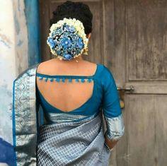 Latest blouse back images New model blouse Saree Blouse Neck Designs, Simple Blouse Designs, Stylish Blouse Design, Bridal Blouse Designs, Blouse Patterns, Blouse Designs Catalogue, Indian Fashion, Women's Fashion, Fashion 2020
