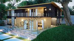 Casa con carcasa de madera y acabados en monocapa o madera. www.donacasa.es