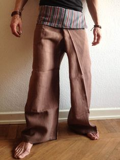 #Camel Raw #Cotton #Thai #Fisherman #Pants - by #Bindidesigns $43