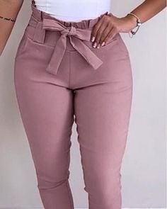 Shop High Waist Frill Hem Casual Pants right now, get great deals at Chiquedoll Casual Work Dresses, Stylish Dresses, Casual Pants, Basic Outfits, Cute Outfits, Fashion Pants, Fashion Outfits, Stylish Dress Designs, Pants For Women