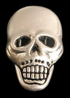 Human Skull Head Bones Evil Punisher Belt Buckle f8483cfa1ec