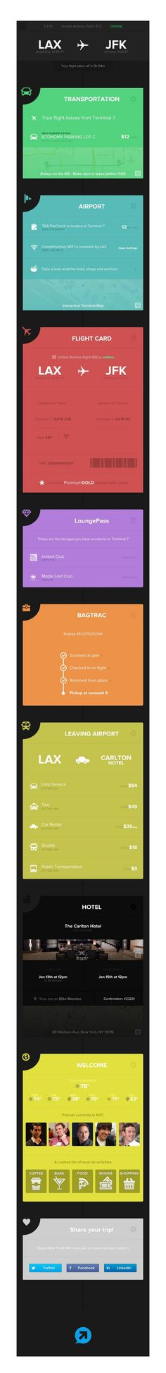 Flight application interface design flat flat design ...