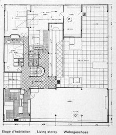 Plan villa Savoye