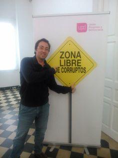 Blas Sánchez en Málaga zona libre de corruptos con UPyD  febrero 2015