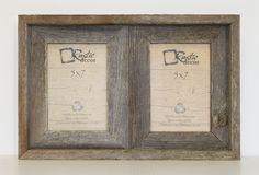 Rustic Decor - 5x7 Rustic Reclaimed Barn Wood Double Opening Frame, $26.99 (http://www.rusticdecorllc.com/5x7-rustic-reclaimed-barn-wood-double-opening-frame/)