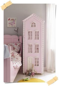 Kids wardrobe furniture is one that must exist in your home. Wardrobe or closet clothes store is a place where kids clothing and most practical Deco Kids, Kids Wardrobe, Wardrobe Design, Wardrobe Ideas, Single Wardrobe, Kids Room Design, Room Kids, Little Girl Rooms, Decor Room