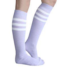 Made in USA Chrissy's Socks Thigh High Socks, Thigh Highs, Sexy Socks, Lilac, Purple, Tube Socks, Cozy, Costumes, Usa