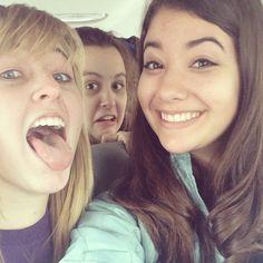 Me, heather, and Hannah on the 2013 CIC ski trip