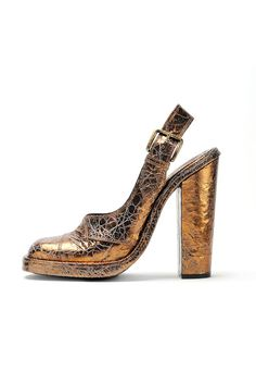 fall 2012, Rochas, shoes, high heels, metallic
