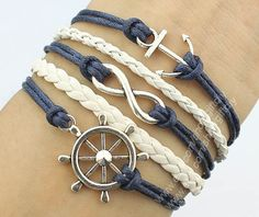 Hey, I found this really awesome Etsy listing at http://www.etsy.com/listing/156020443/rudder-bracelet-anchor-bracelet-infinity
