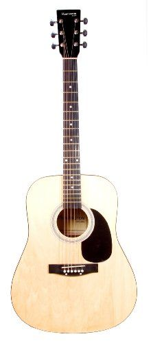 Full Size Natural Dreadnought Acoustic Guitar with Free Carrying Bag and Accessories (Guitar, Case, Strap, & DirectlyCheap(TM) Translucent Blue Medium Guitar Pick) DirectlyCheap,http://www.amazon.com/dp/B0099TXOCE/ref=cm_sw_r_pi_dp_uiD5sb0RCT0MQN59