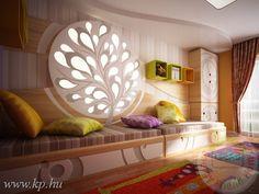 Eredeti gyerekszoba design vibráló színekkel és anyagokkal