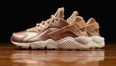 0fec8305fd0f The women s Nike Air Huarache is treated in Rose Gold for its latest  iteration this Fall Find it at Nike stores now.