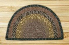 Braided Brown/Black Area Rug
