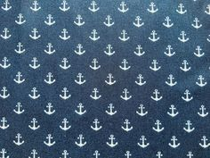Dark Navy Blue Nautical Fabric Cotton Fabric, Boats Fabric, Anchor Fabric Coastal Fabric, Ocean Fabric, Vintage Nautical, Dark Navy Blue, Fabric Crafts, Anchor, Boats, Surfing, Surf