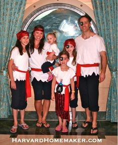 Disney Cruise Pirate Costumes for the Family
