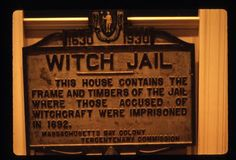 The Salem Witch Jail - Absolutely shameful that women were not only jailed but most killed by fanatical Christians. Salem Halloween, Salem Mass, Witch History, Salem Witch Trials, Witch Decor, Witch House, Massachusetts, American History, Ancestry