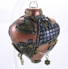 If It's Hip, It's Here (Archives): Steampunk Christmas Ornaments Are One Of A Kind Handmade Art For Your Tree.