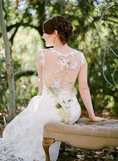 Claire Pettibone 'Papillon' wedding dress, Still Life Collection   Photo: Lucy Munoz featured on Style Me Pretty http://www.clairepettibone.com/papillon