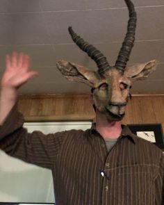 @crookedcrowmasks posted to Instagram: Here's a different gazelle person, reaching out to his #kinfolk #masks #props #cousins #gazelle #hithere #hello #friends #crookedcrowmasks Kinfolk, Animal Heads, Cousins, Crow, Masks, Beautiful, Friends, Animals, Instagram