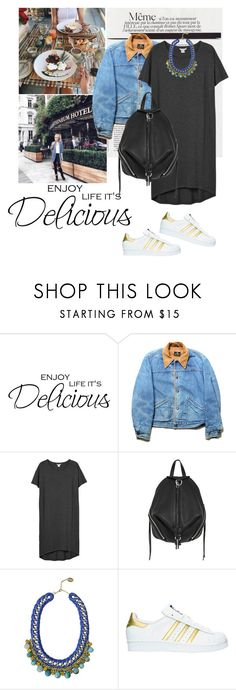 """Untitled #1996"" by ivonce ❤ liked on Polyvore featuring WALL, Monki, Rebecca Minkoff, Ricardo Rodriguez and adidas"