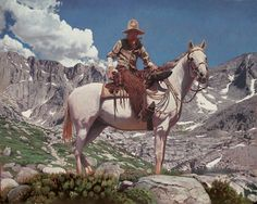 Rocky mountains cowboy. 30×24. Oil on linen.(SOLD) | Mark Maggiori