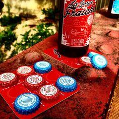 """LE """" MORPOILHES """"  Après avoir refait le monde autour d'une Gorge Fraîche, on peut encore faire une partie de """"Morpoilhes"""" ! La Gorge Fraîche c'est la bière des copains.  Retrouvez les sous-bock La Gorge Fraîche à Poilhes au caveau du Papé. Le Morpoilhes by Guigui et Glucoz.  #sud #midi #bière #artisanale #craft #beer #poilhes #lagorgefraîche"""