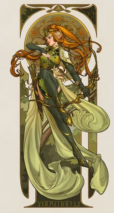 "First time participating character design challenge on FB , really wanted to do an elf warrior haha! When I saw it I immediately thought of ""record of the Lodoss war"", I loved the art style even before I knew what art nouveau and mucha is 😂 but obviously Fantasy Character Design, Character Design Inspiration, Character Concept, Character Art, Concept Art, Elf Characters, Fantasy Characters, Elf Warrior, Woman Warrior"