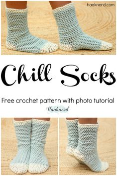Chill Socks. Free step-by-step crochet pattern with photo tutorial. via @haaknerd