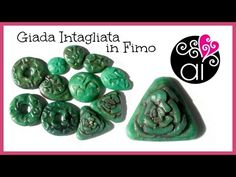 hard carved faux jade #Polymer #Clay #Tutorials