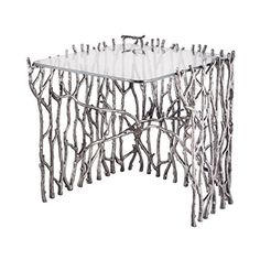 Dimond Home 8987-006 Small Silvered Sticks Side Table, 22