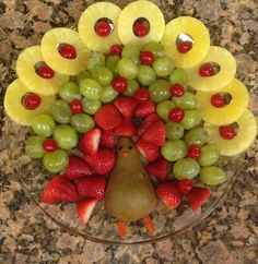 Turkey Fruit Platter - making this to bring to the in-laws house!