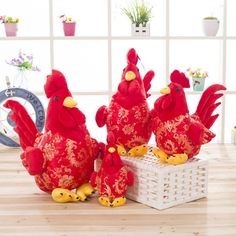 The new Chicken Rooster hen toy baby gift doll doll doll plush toys for…