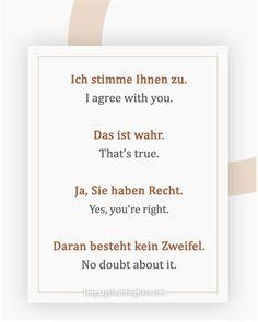 The Many Different Ways to Say & in German - learn German,communicat. Study German, German English, German Language Learning, Learn A New Language, Dual Language, German Grammar, German Words, Teaching French, Teaching Spanish