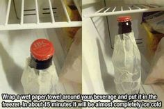 Hack: keep your drinks cold