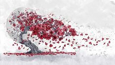 """Cherry Blossom"" by Marine Loup Art."