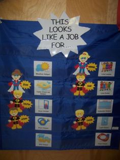 Job chart superhero theme