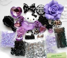 Frog-tech DIY 3D Bling Cell Phone Case Deco Kit : Roses, Heart, Bow and Pearls ,etc + microfiber cloth (kitty+purple rose) Frog-Tech http://www.amazon.com/dp/B00J7GSYHY/ref=cm_sw_r_pi_dp_FiUoub0T948PX