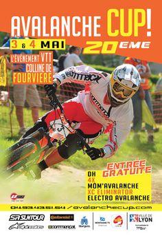 20e Avalanche Cup, épreuve de descente VTT sur la colline de Fourvière. Du 3 au 4 mai 2014 à Lyon.